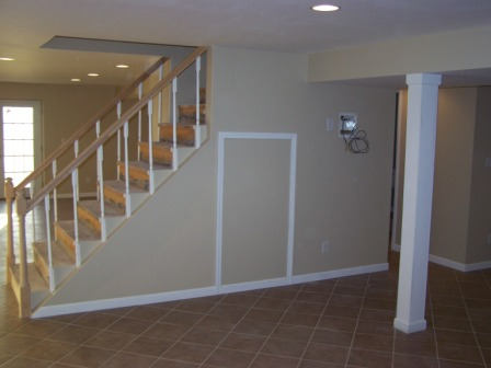 picture of basement stairs