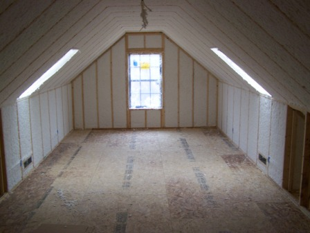 picture of attic and insulation