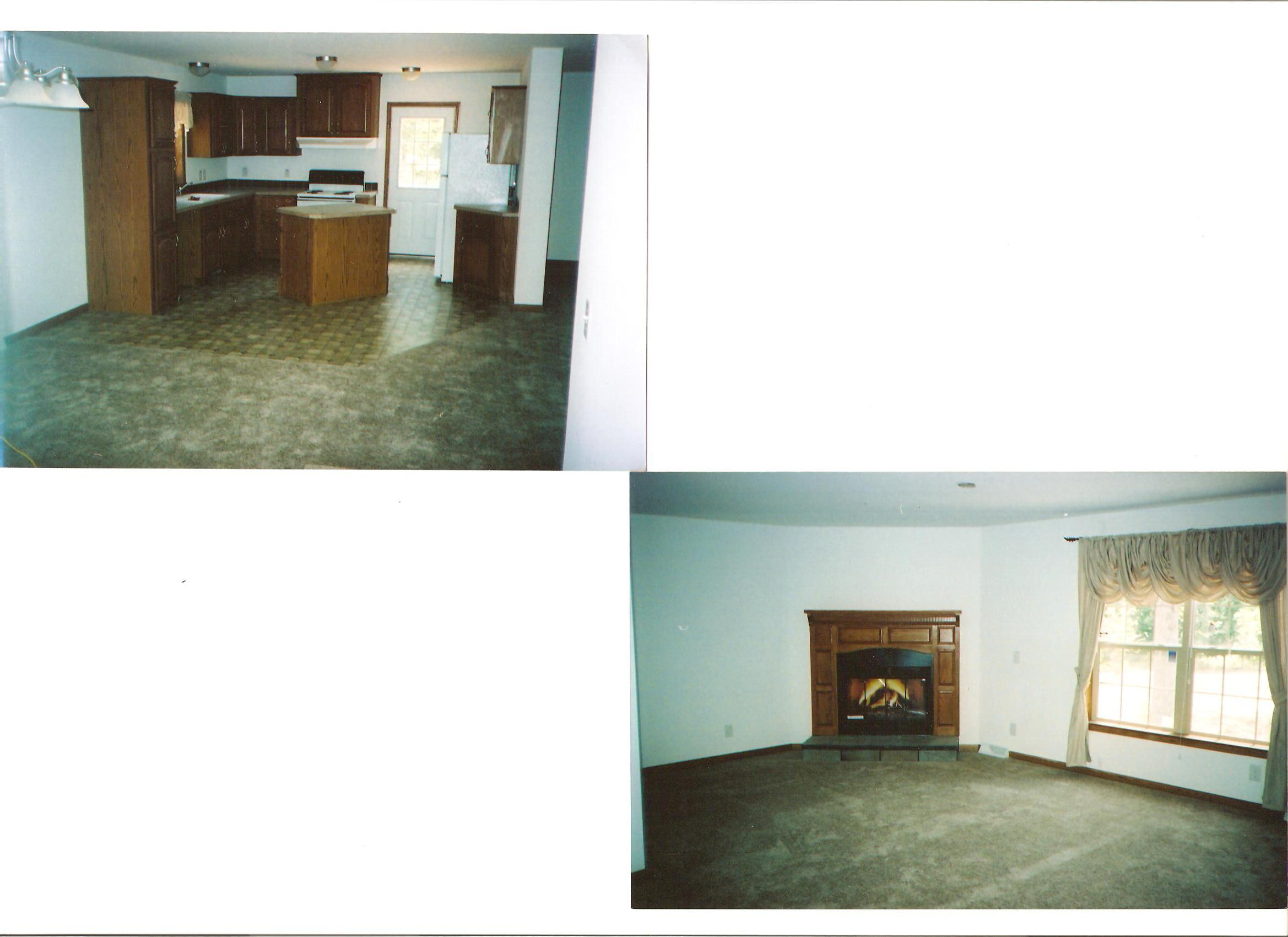 picture of fireplace and kitchen